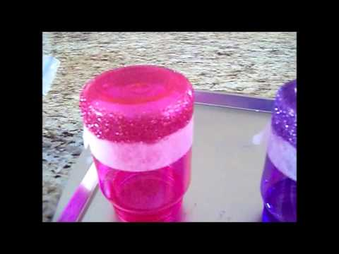 My little Pony Glitter Dipped Water bottles