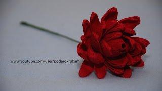 Георгина из конфет и бумаги. DIY Dahlia of sweets and paper(Цветы из гофрированной бумаги и конфет. Мастер класс по изготовлению цветка