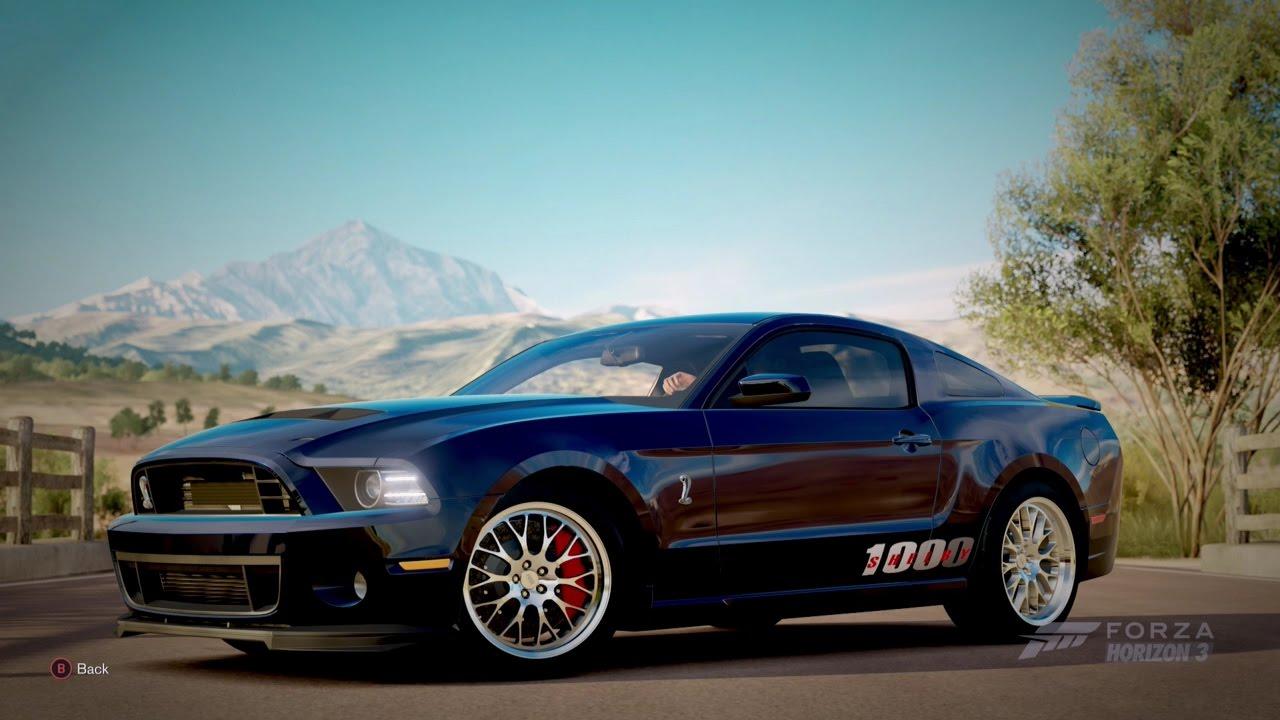 Forza Horizon 3  2013 SHELBY GT1000 - YouTube