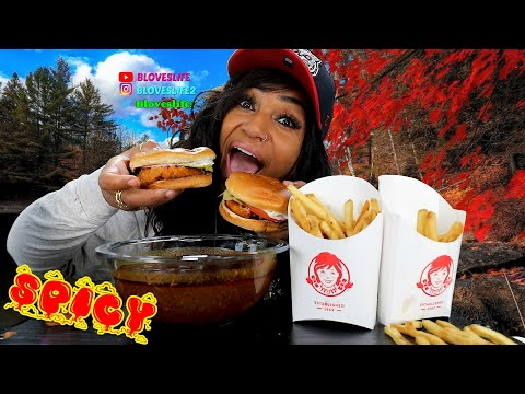 Wendy's Spicy Chicken Mukbang from YouTube · Duration:  29 minutes 22 seconds