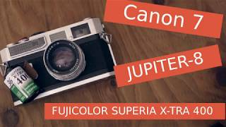 How to use Canon 7 on Jupiter-8 Load Film & Test Shoot cheap rangefinder camera