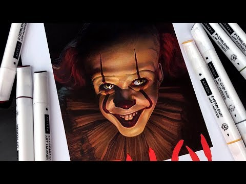 Drawing Pennywise with Arteza - IT Chapter Two