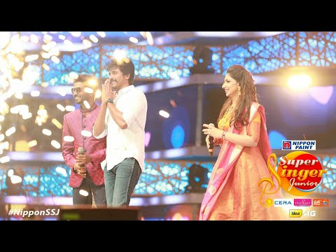 Siva Karthikeyan Marana Mass Entry At Super Singers Junior | Vijay Tv Grand Finale Sk11 Sk12