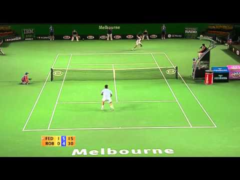 Roger Federer vs Tommy Robredo -- Australian Open 2007 QF Highlights