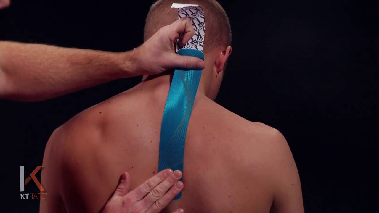Kt Tape Kinesiology Taping Instructions For Neck And Shoulder