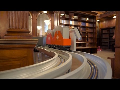 Adorable new book trains at the New York Public Library