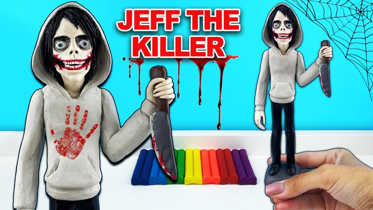 Джефф Киллер из пластилина по мотивам игры-страшилки «Jeff The Killer» | Лепим фигурки с Лепка ОК