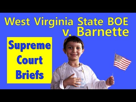 Do You Have To Say The Pledge Of Allegiance?   West Virginia State Board Of Education V. Barnette