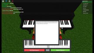 Roblox Piano Llévame a la Iglesia (SHEETS)
