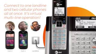 AT&T TL96273 2 Handset Connect to Cell™ answering system with dual caller ID/call waiting