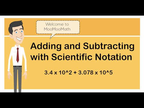 Scientific Notation Adding And Subtraction Youtube