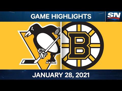 NHL Game Highlights | Penguins vs. Bruins - Jan. 28, 2021
