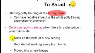 Mistakes To Avoid When Potty Training - Video 4