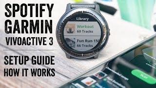 Spotify on Garmin VivoActive 3 Music: Setup, Details, Usage