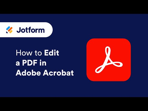 How To Edit A PDF In Adobe Acrobat