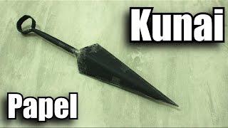 Como fazer uma Kunai de papel! - (Naruto)
