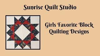 Girls Favorite Block Quilting Designs