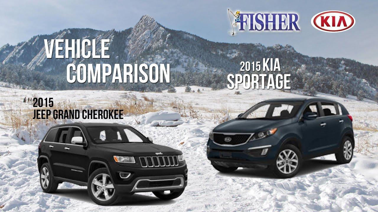 Kia parison 2015 Kia Sportage vs 2015 Jeep Grand Cherokee