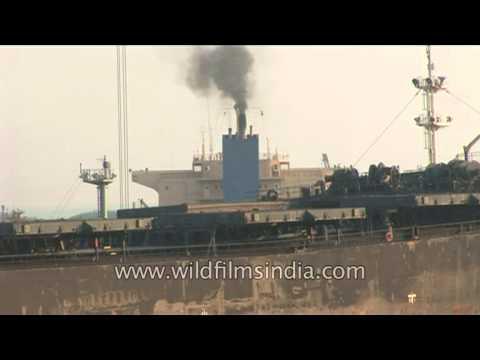 Cargo traffic at Paradeep Port in Orissa
