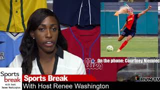 The Sports Break with Renee Washington: Pro Soccer Player Courtney Niemiec