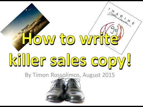 How to write a sales letter that sells by Timon Rossolimos August 2015