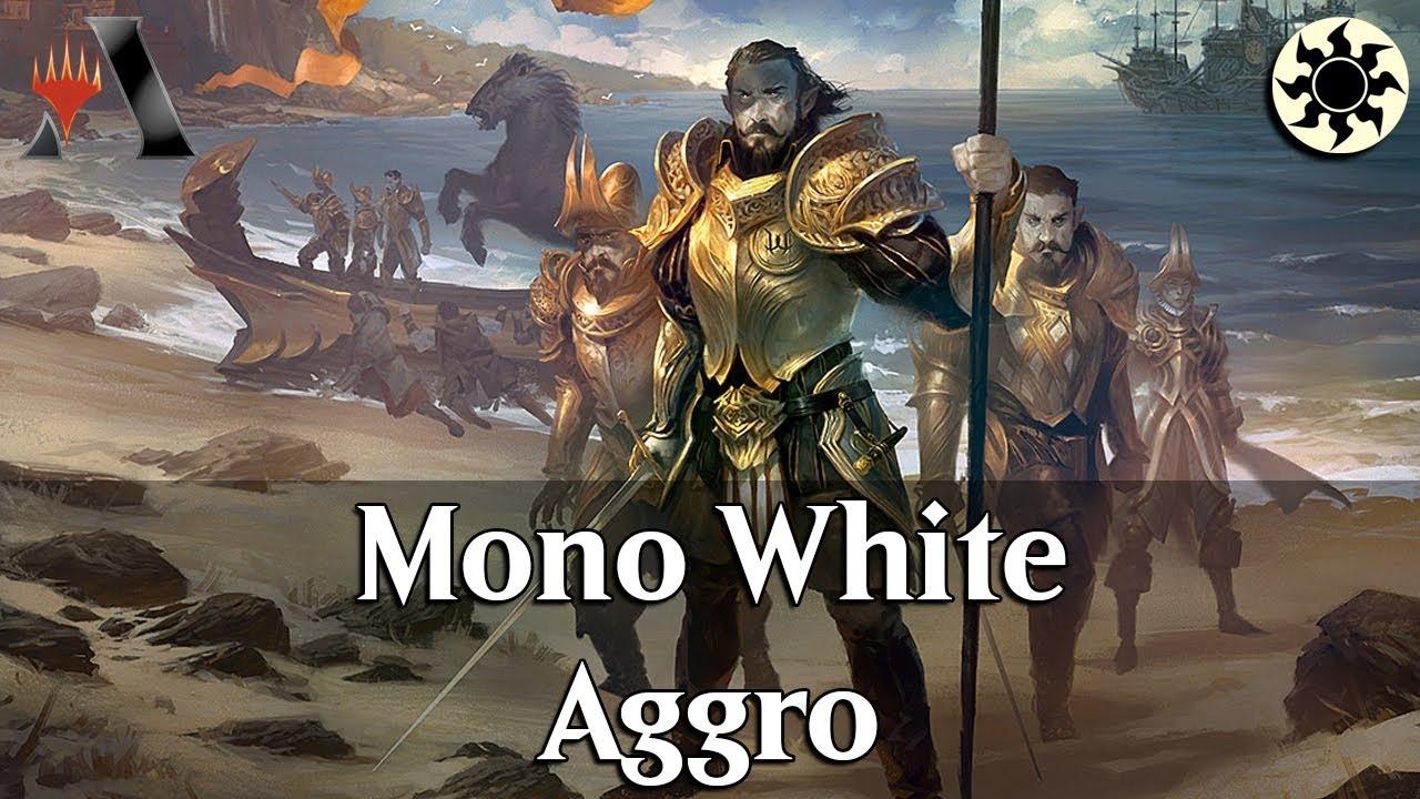 MTG Arena GRN | Mono White Aggro DeckTech & Gameplay [STAHP]