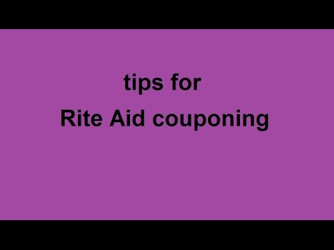 tips for Rite Aid couponing