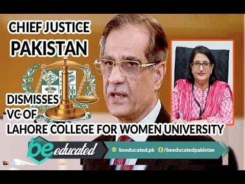Chief Justice Dismisses VC of Lahore College for Women University