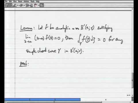 Mod-06 Lec-01 Removable Singularities