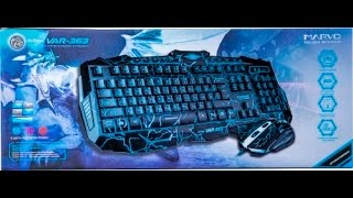 Marvo var-363 клавиатура и мышь. Регулировка яркости и измение цвета подсветки. Video
