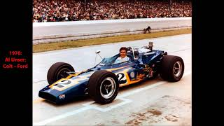 Indy500 winners 1911-2018