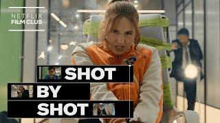 Shot By Shot w/ Karen Gillan | Gunpowder Milkshake