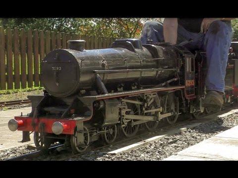 7 1/4 inch Gauge LMS Black 5 5293 Worden Park, Leyland - Live Steam