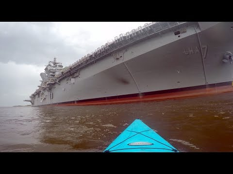 I got TOO CLOSE to a U.S. NAVY SHIP!!