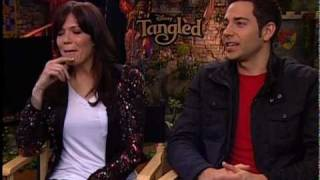 "Mandy Moore and Zachary Levi Talk ""Tangled"""