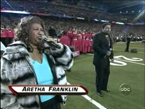 Superbowl 40 - Anthem- Aaron Neville- Aretha Franklin