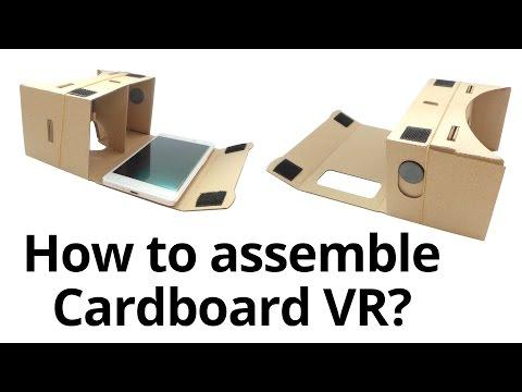 Assembling For Google Cardboard VR DIY ToolKit 3D Virtual Reality Glasses
