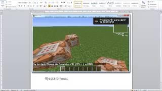 mi primer video tutorial de como hacer un bloque de comandos minecraft 1.5.2