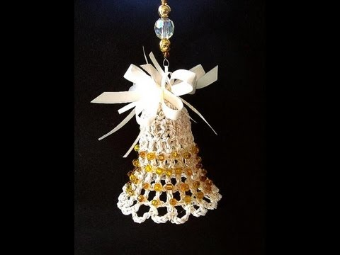 crochet christmas bell ornament tree ornament bell holiday bell