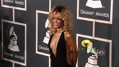 Rihanna on the Red Carpet 2012 Grammy Awards   HD 1080i