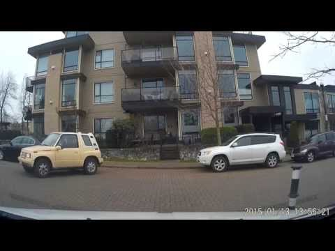 Girl parallel parking FAIL Victoria BC