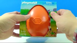 Unboxing Giant Orange Playmobil Surprise Egg Reveal