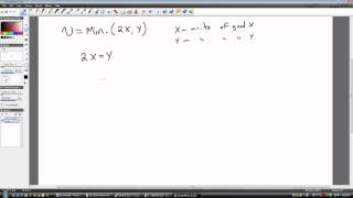 Utility Maximization: Fixed Proportions (Perfect Complements)