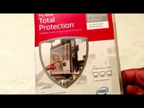 Unboxing - McAfee Total PC Protection 💻🔒