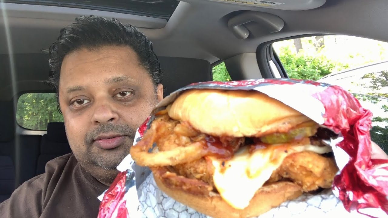 Eating Wendy S Spicy Barbecue Chicken Sandwich