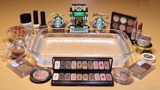 Theme Series #12 'coffee' Mixing EYESHADOW And glitter Into Clear Slime! 'coffee Silme'