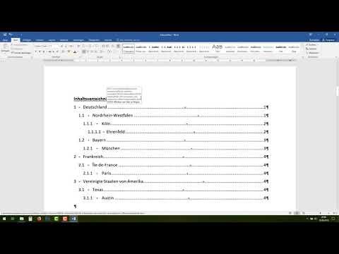 WORD Automatische Seitenzahlen Einfügen - Tutorial (fortlaufend, Durchgehend) [07]