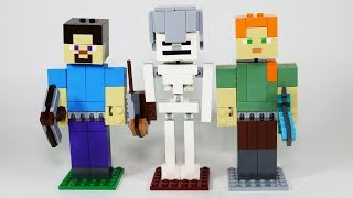 Lego Minecraft Big Figs with Alex, Steve and Skeleton