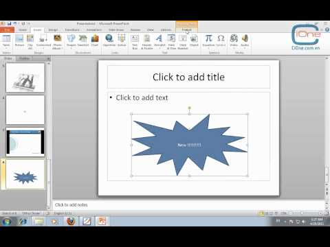 Hướng dẫn chèn Media và vẽ các đối tượng trong Power Point 2010 - Phần cuối