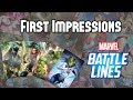 Marvel Battle Lines First Impressions